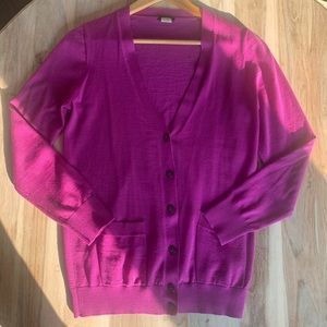 J Crew Berry Cardigan